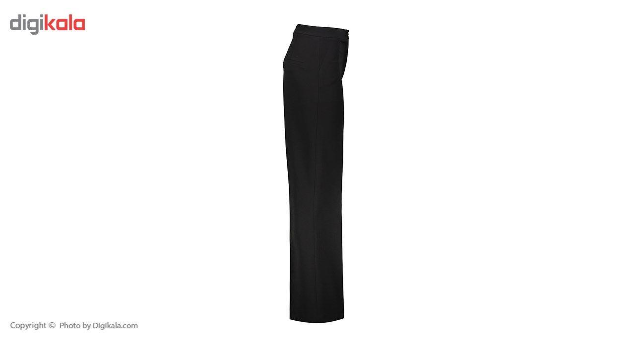 شلوار زنانه دمپا گشاد پارچه ای  مشکی مدل 198 -  - 3