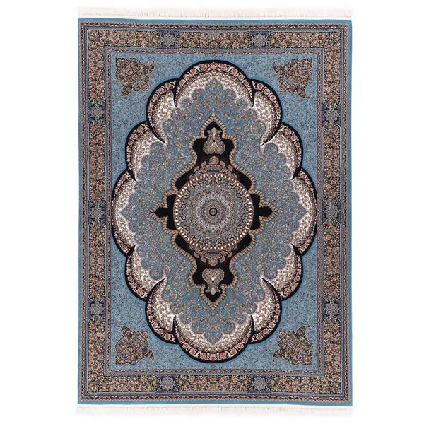 فرش ماشینی آدینا طرح آرشیدا زمینه آبی