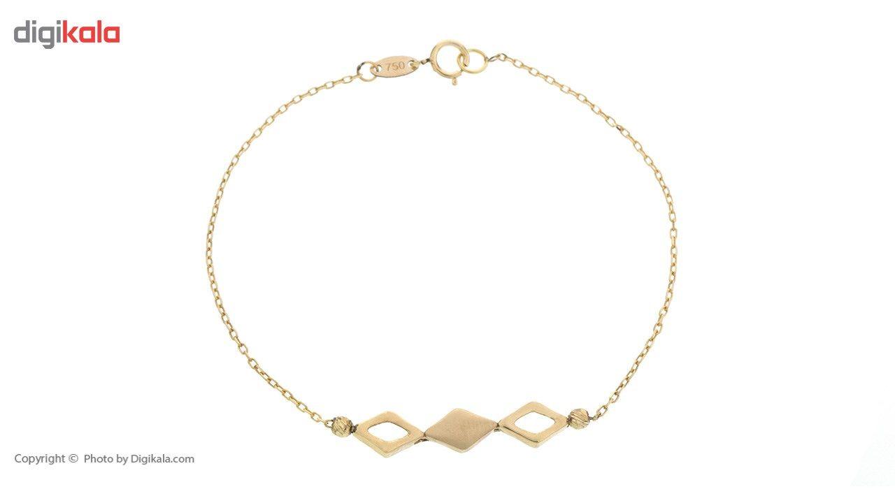 دستبند طلا 18 عیار ماهک مدل MB0398 - مایا ماهک -  - 2