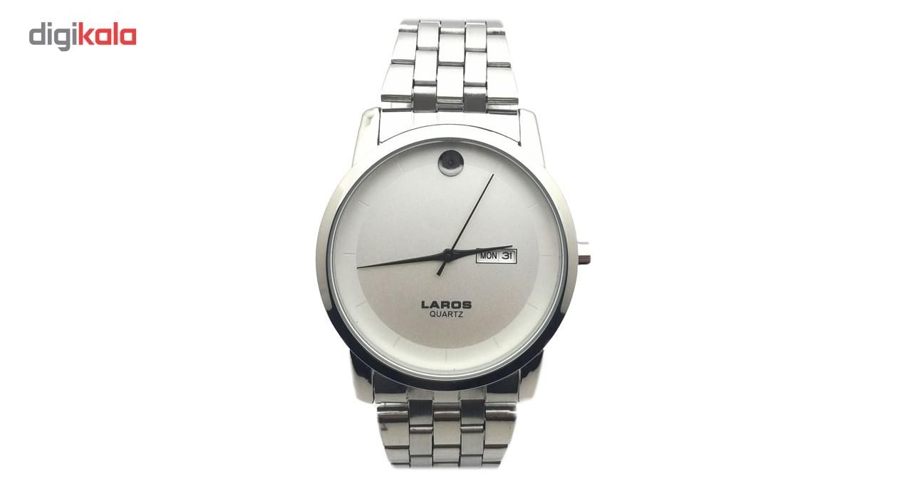 خرید ساعت مچی عقربه ای مردانه لاروس مدل LM-N606-White