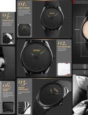 ساعت مچی عقربه ای مردانه اسکمی مدل 1601 کد 02 -  - 1