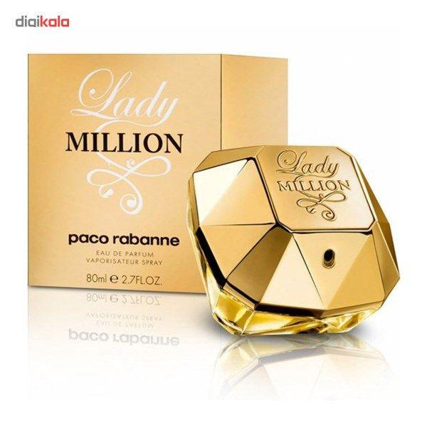 ادو پرفیوم زنانه پاکو رابان مدل Lady Million حجم 80 میلی لیتر  Paco Rabanne Lady Million Eau De Pa