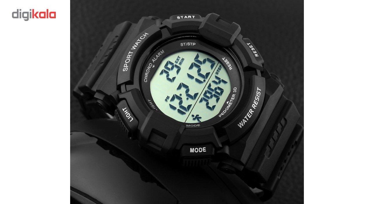 ساعت مچی دیجیتال اسکمی مدل 1116-BL -  - 3