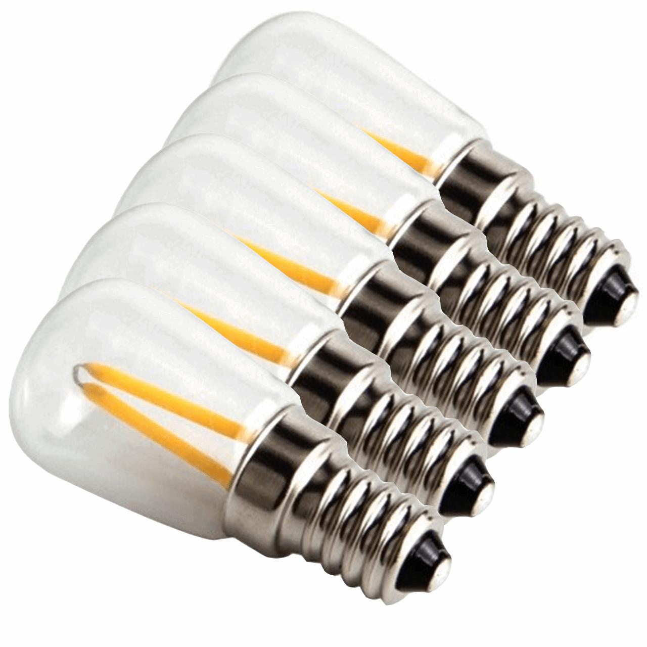 لامپ فیلامنتی 1.5 وات پایه E14 بسته 5 عددی