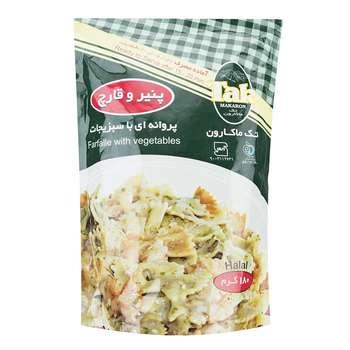پاستا پروانه ای سبزیجات با طعم پنیر و قارچ تک ماکارون مقدار 180 گرمی