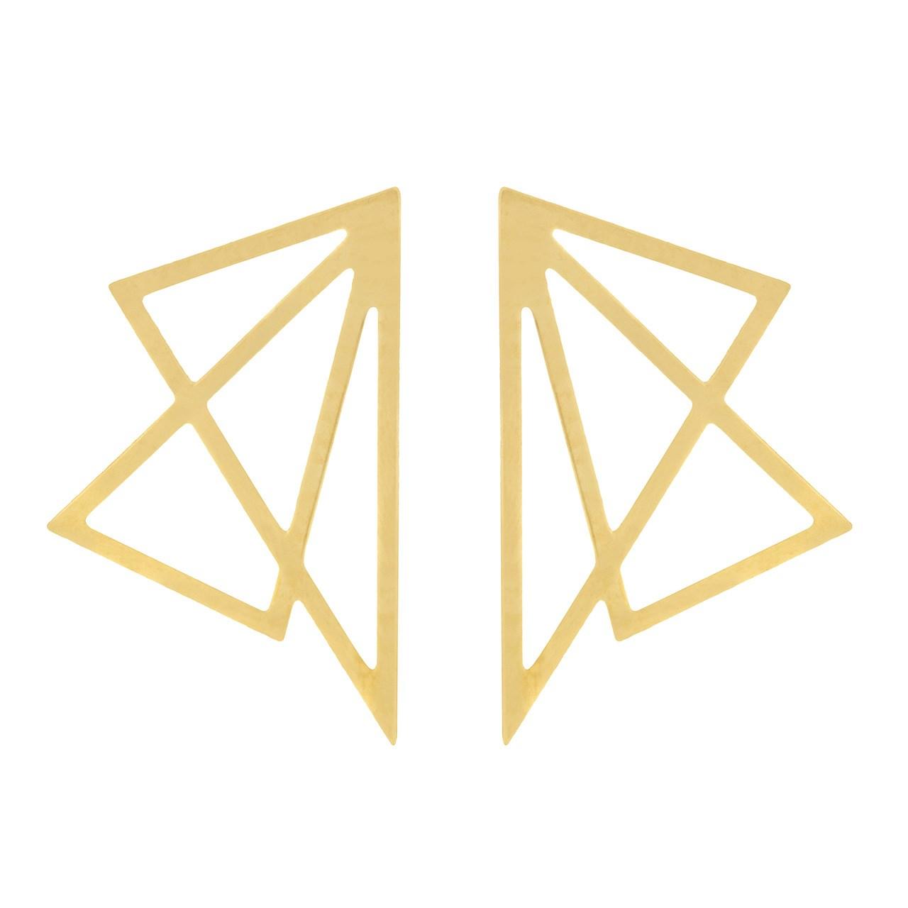 قیمت گوشواره طلا 18 عیار ماهک مدل ME0691