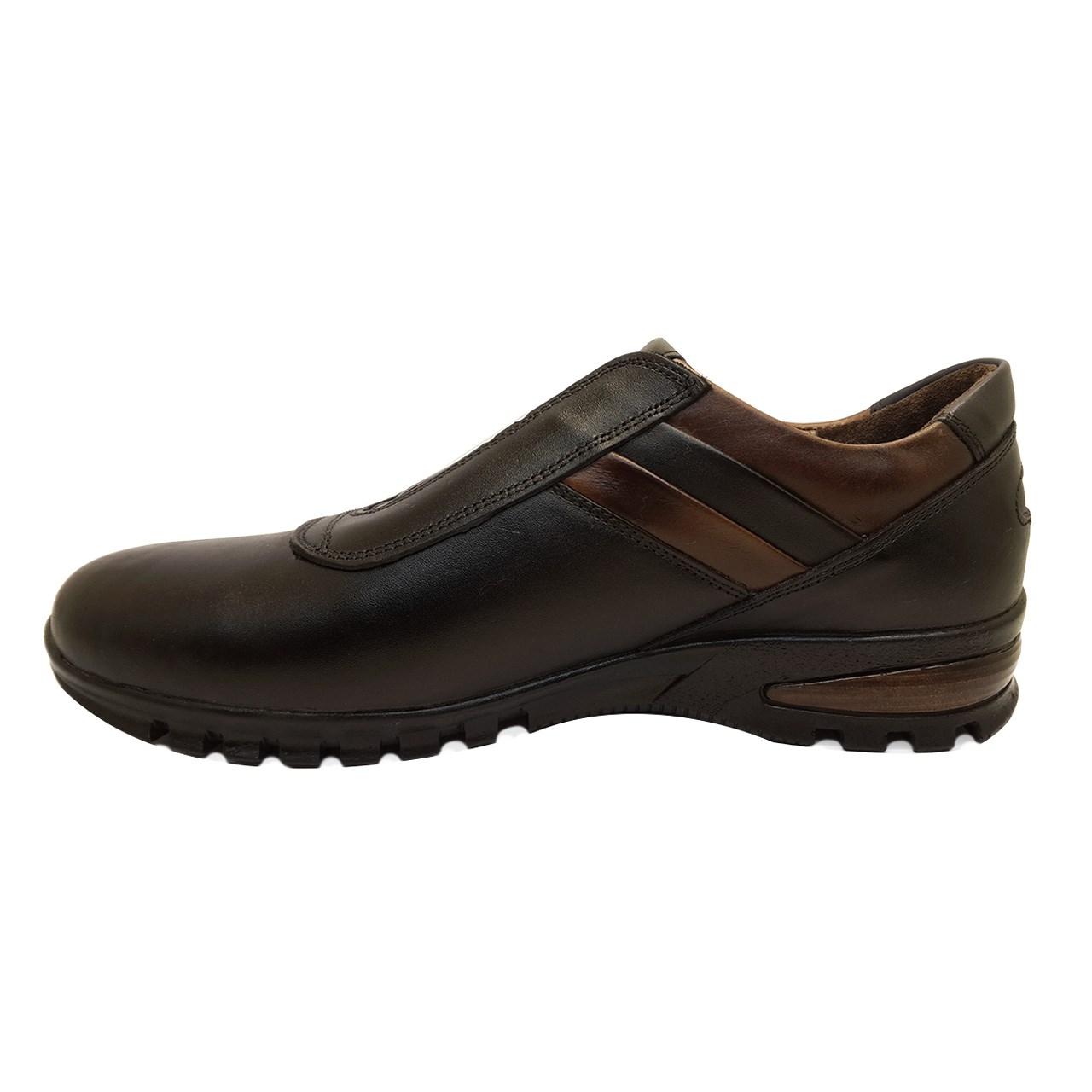 کفش چرمی طبی مردانه مدل پدیده