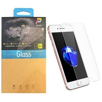 محافظ صفحه نمایش  تمام چسب شیشه ای پیکسی مدل Clear  مناسب برای گوشی اپل آیفون 8/7 پلاس