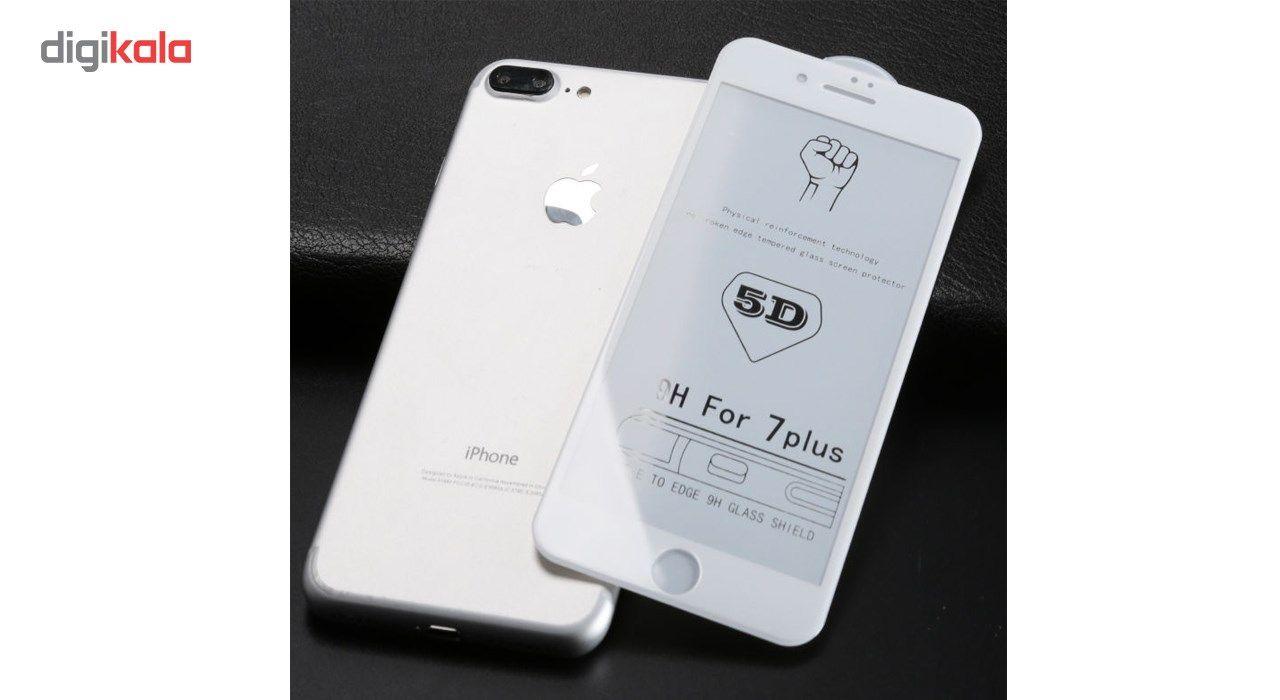 محافظ صفحه نمایش تمام چسب شیشه ای مدل 5D مناسب برای گوشی اپل آیفون 7 پلاس main 1 3