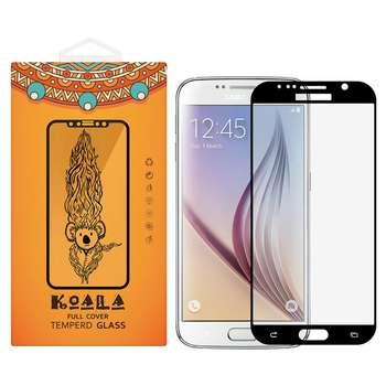 محافظ صفحه نمایش شیشه ای کوالا مدل Full Cover مناسب برای گوشی موبایل سامسونگ Galaxy S6