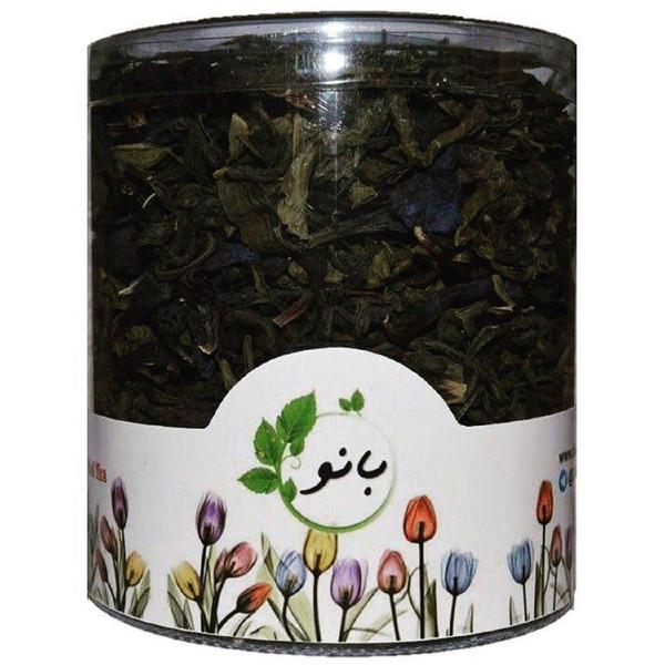 قوطی دمنوش ترکیبی بانو مدل چای سبز و گل گاوزبان