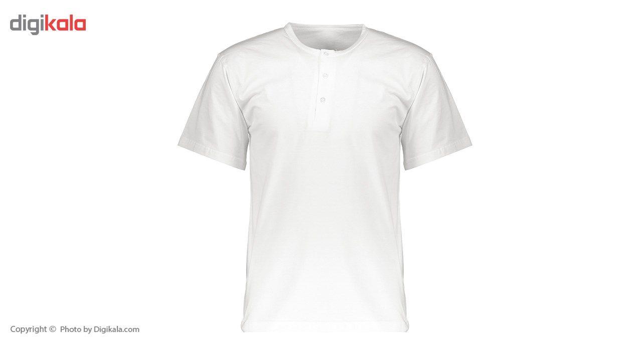 زیرپوش آستین کوتاه مردانه رویین تن پوش مدل  11112 -  - 2