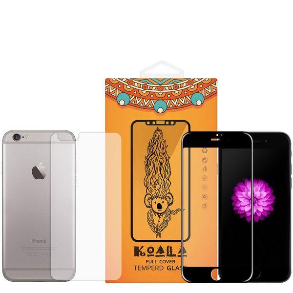 محافظ صفحه نمایش شیشه ای Full Cover و پشت شیشه ای Tempered کوالا مناسب برای گوشی موبایل اپل آیفون 6/6S