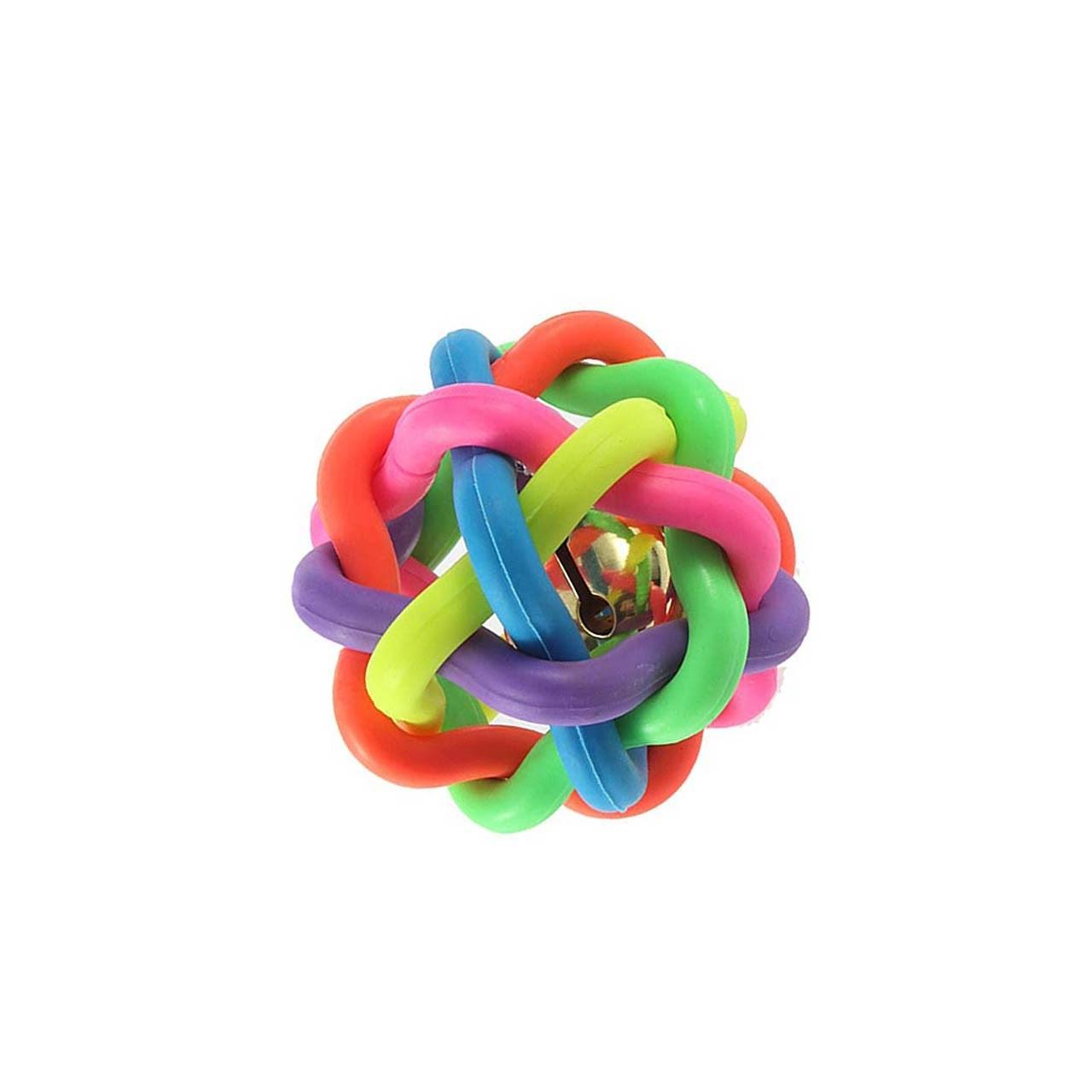 اسباب بازی سگ توپ پیچ در پیچ مدل Juguetes Perro Ball-S قطر 5.5 سانتی متری
