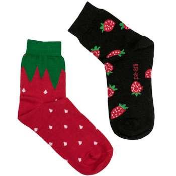 جوراب زنانه پا آرا طرح توت فرنگی کد SKP-2501