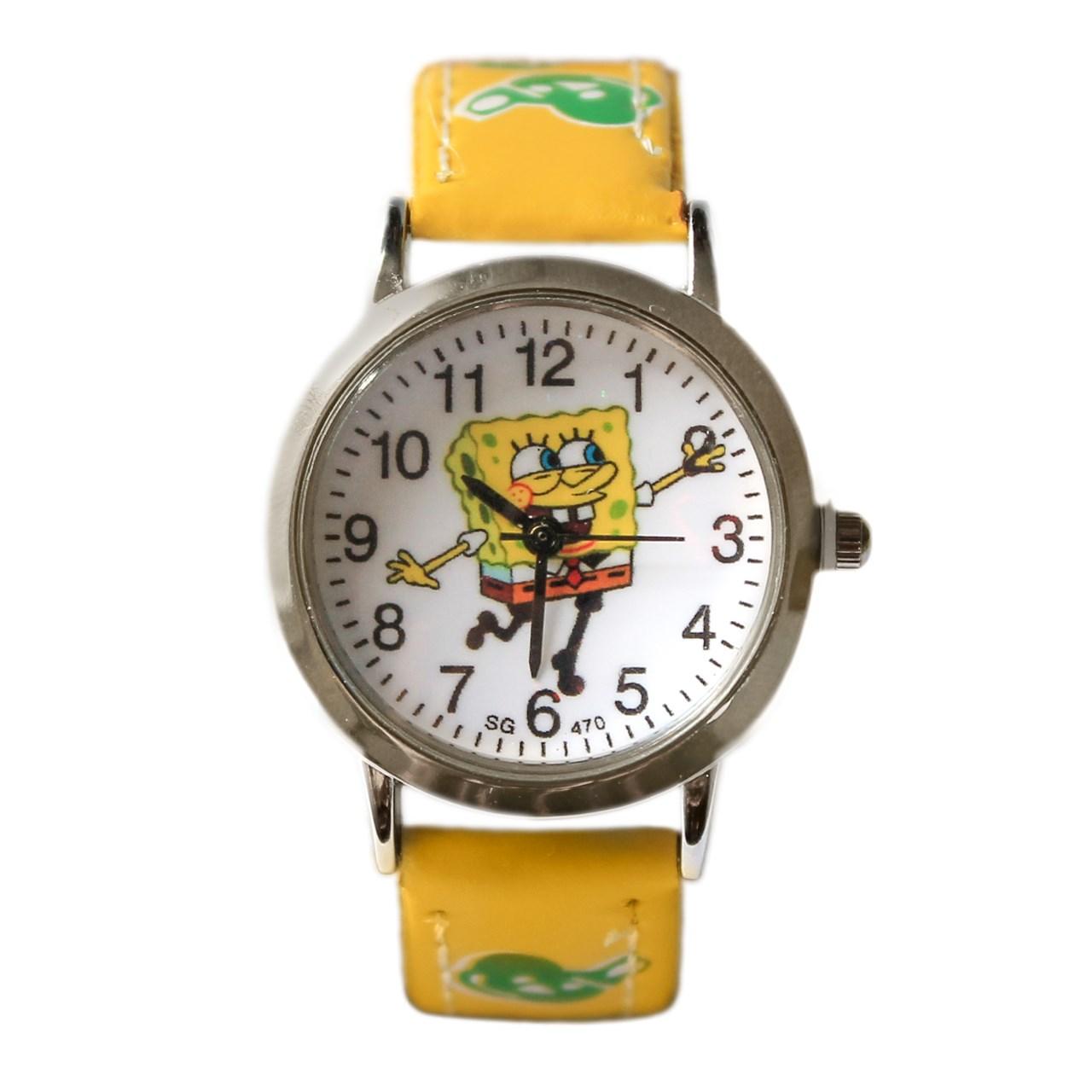 ساعت مچی عقربه ای بچگانه ماهدخت  مدل SpongeBob