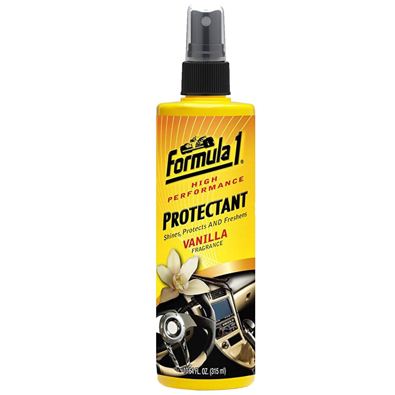 اسپری براق کننده و محافظت کننده داشبورد خودرو فرمول وان مدل Vanilla Fragrance 686737 - حجم 315 میلی لیتر
