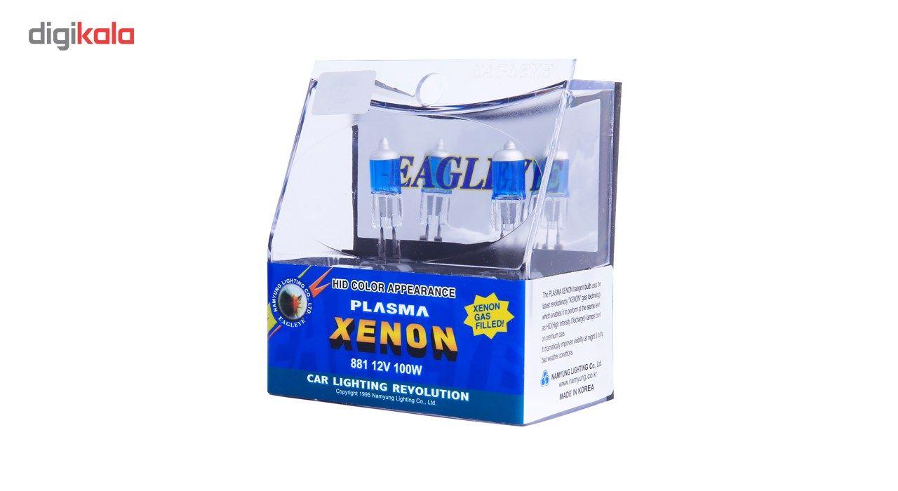 لامپ خودرو ایگل مدل 881 12V 100 W Plasma Xenon بسته 2 عددی main 1 3