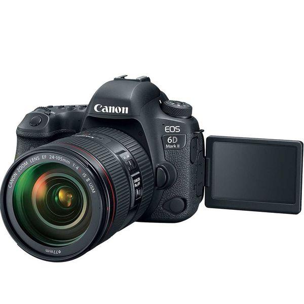 دوربین دیجیتال کانن مدل EOS 6D Mark II به همراه لنز 24-105 میلی متر F4 L IS II | Canon EOS 6D Mark II Digital Camera With 24-105 F4 L IS II Lens