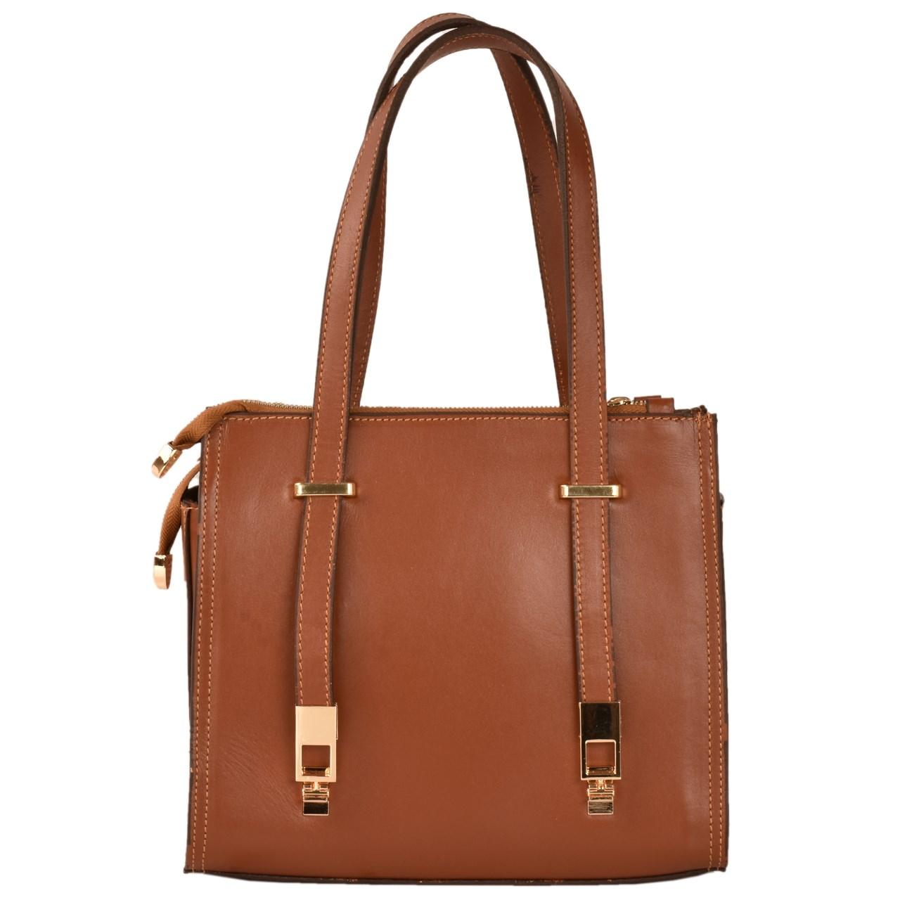 کیف دستی چرم طبیعی کهن چرم مدل V159-1