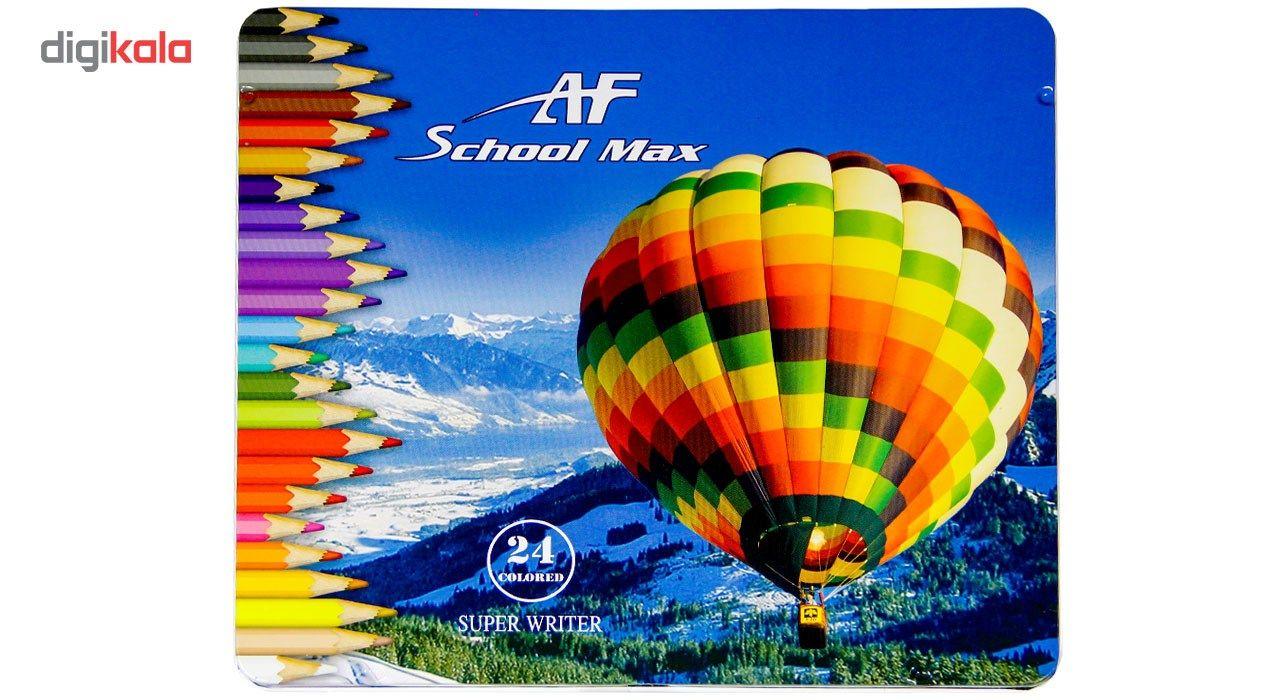 مداد رنگی 24 رنگ ای اف اسکول مکس طرح بالون main 1 1