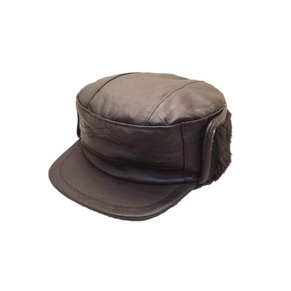 کلاه چرم مردانه چرمی کالا مدل 02