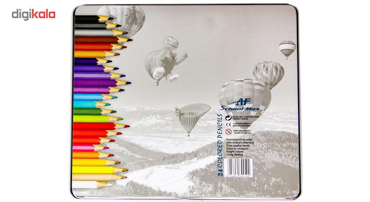 مداد رنگی 24 رنگ ای اف اسکول مکس طرح بالون main 1 2