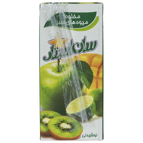 نوشیدنی مخلوط میوه های سبز سان استار حجم 0.2 لیتر