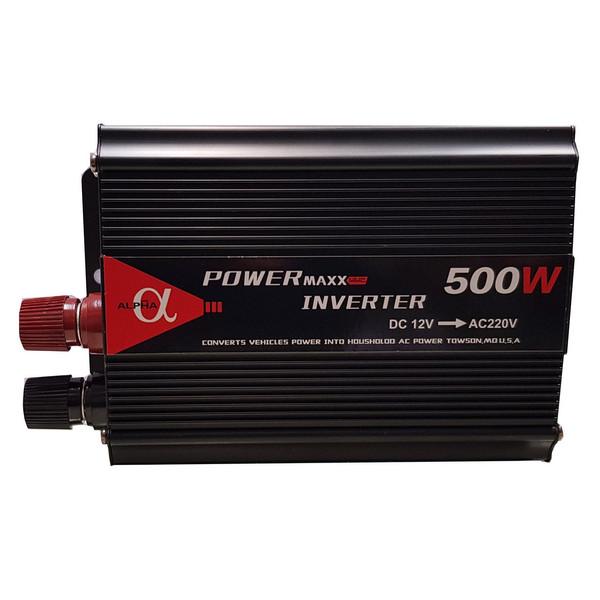 مبدل برق خودرو آلفا مدل 12V-TO-220V-500W