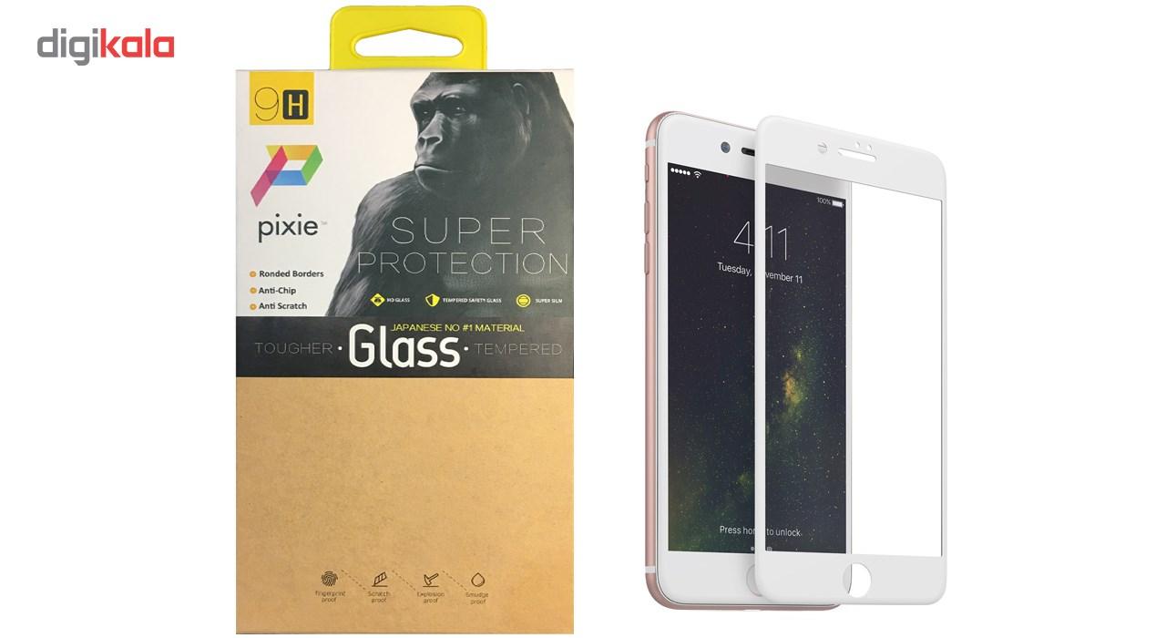 محافظ صفحه نمایش  تمام چسب شیشه ای پیکسی مدل 5D  مناسب برای گوشی اپل آیفون 8 پلاس main 1 1