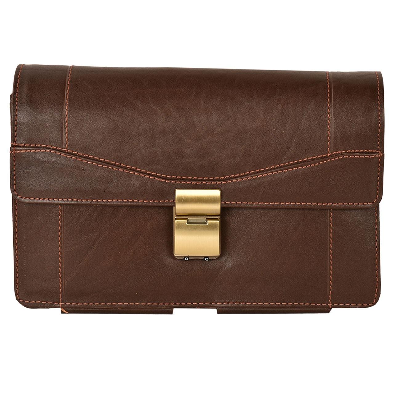 کیف دستی چرم طبیعی کهن چرم مدل DB34-7