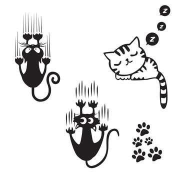 استیکر کلید پریز گراسیپا طرح گربه ها بسته 3 عددی