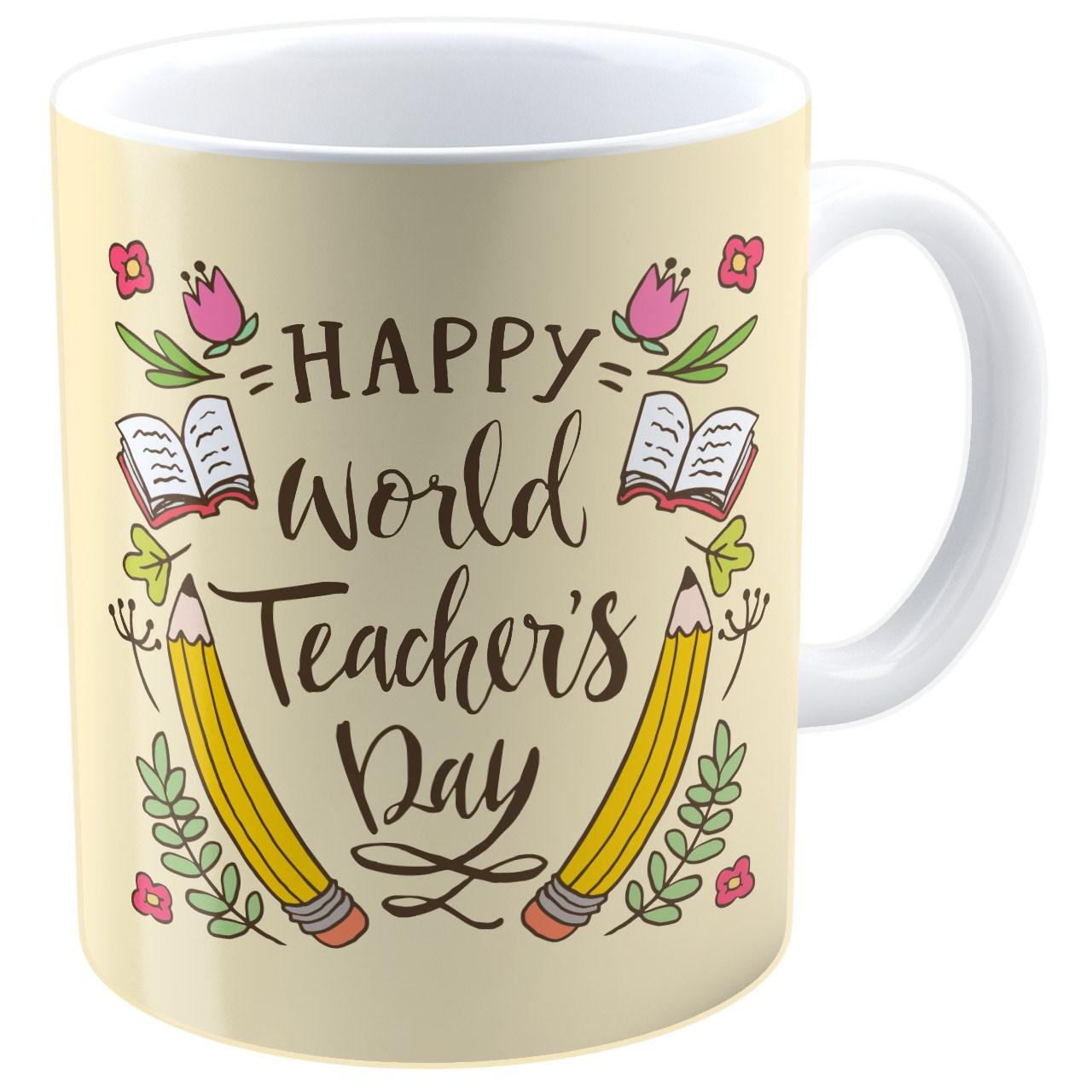 عکس ماگ شین دیزاین طرح روز معلم مبارک کد 4160