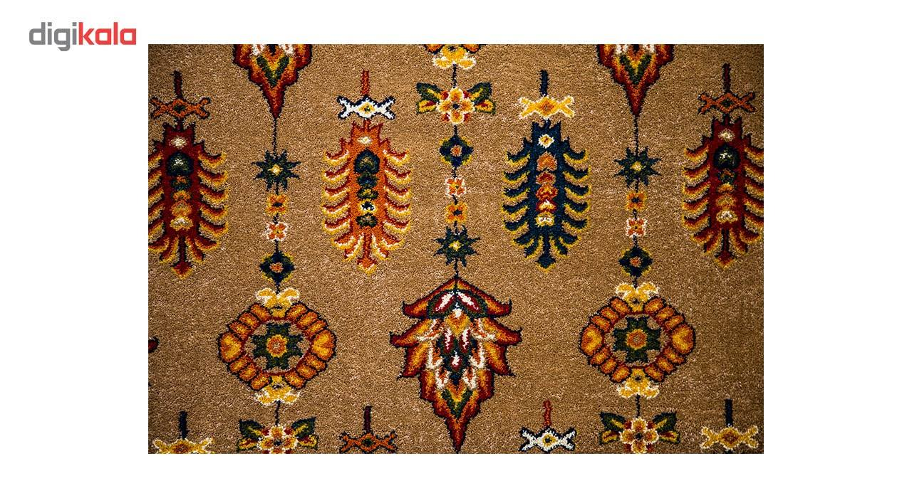 فرش ماشینی ساوین طرح سارگل زمینه شکلاتی main 1 2