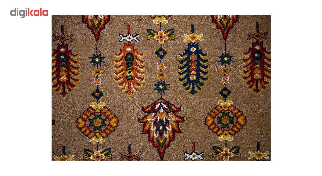 فرش ماشینی ساوین طرح سارگل زمینه شکلاتی main 1 3