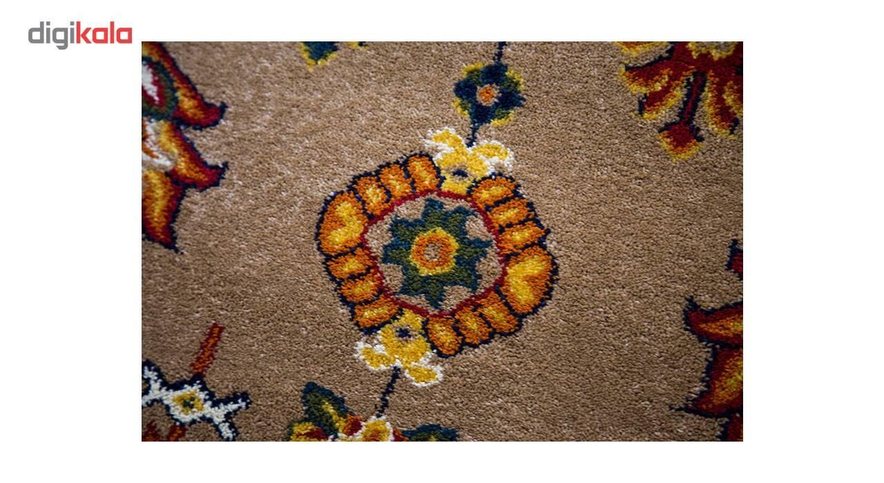 فرش ماشینی ساوین طرح سارگل زمینه شکلاتی main 1 4
