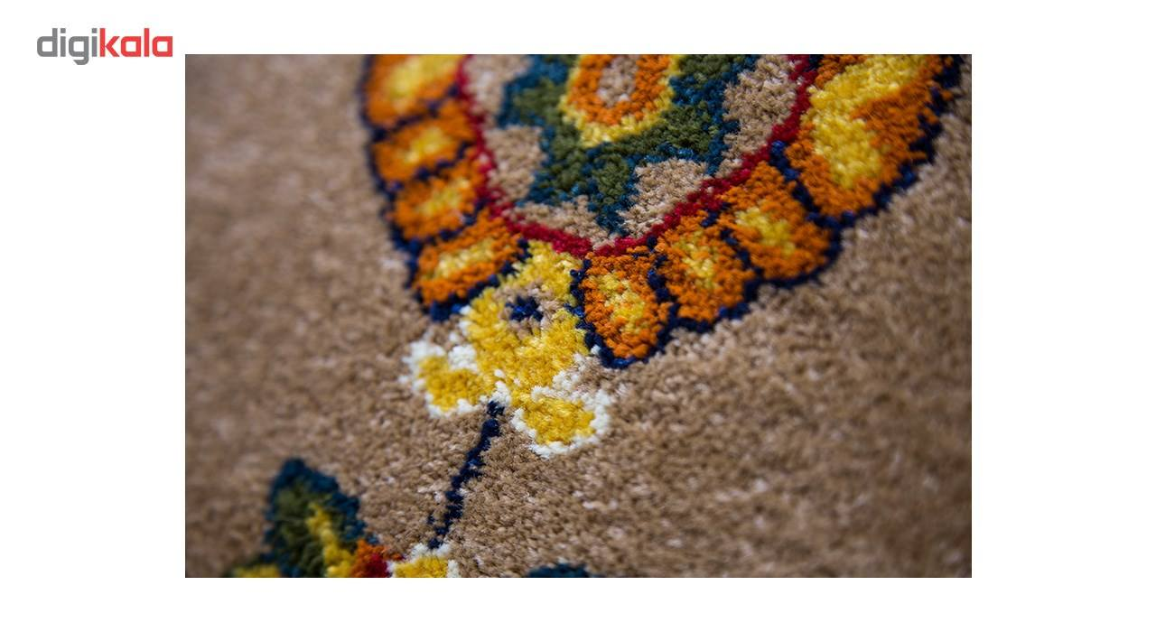 فرش ماشینی ساوین طرح سارگل زمینه شکلاتی main 1 5