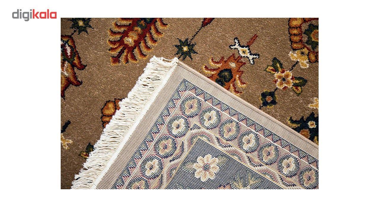 فرش ماشینی ساوین طرح سارگل زمینه شکلاتی main 1 6
