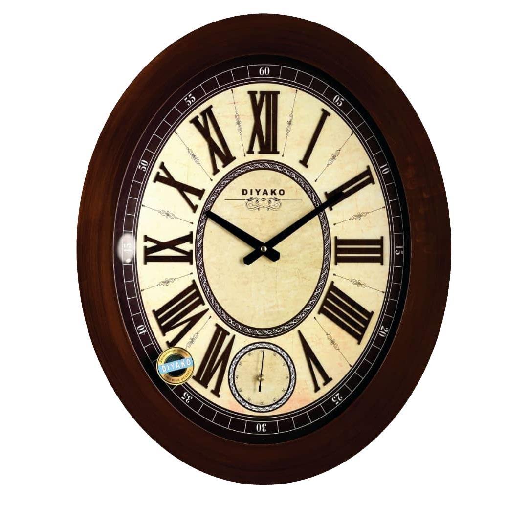 ساعت دیواری دیاکو مدل بیضی B101