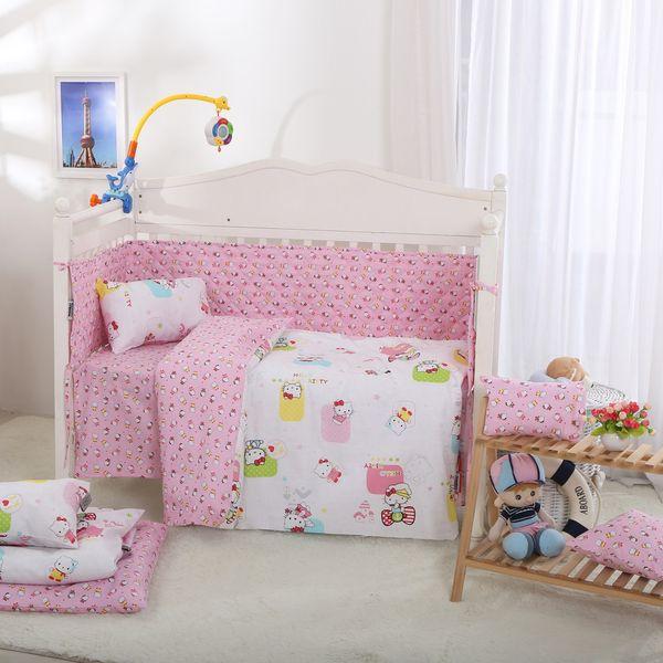 سرویس نوزادی 6 تکه طرح HELLO KITTY AND SQUARE اسلیپی