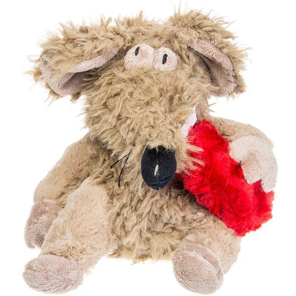 عروسک موش و قلب پولیشی پالیز سایز 2
