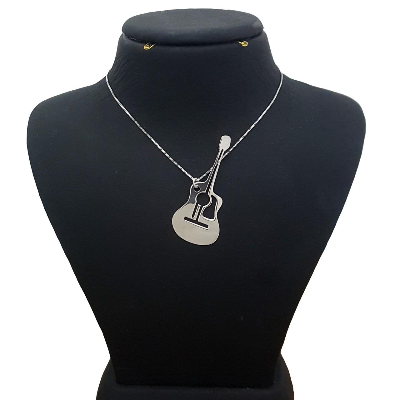 قیمت گردنبند نقره ترمه مدل گیتار ASE1