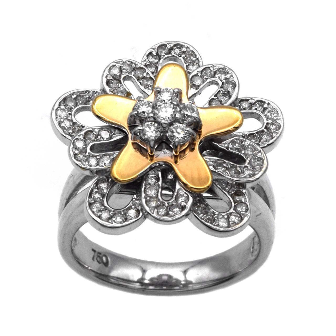 راهنمای خرید انگشتر طلا 18 عیار جواهری سون مدل 1707 لیست قیمت