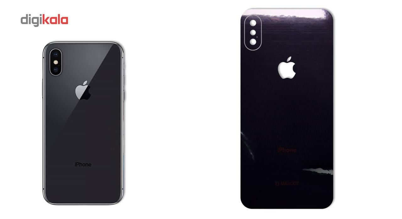 برچسب پوششی ماهوت مدل Black-color-shades Special مناسب برای گوشی  iPhone X main 1 2