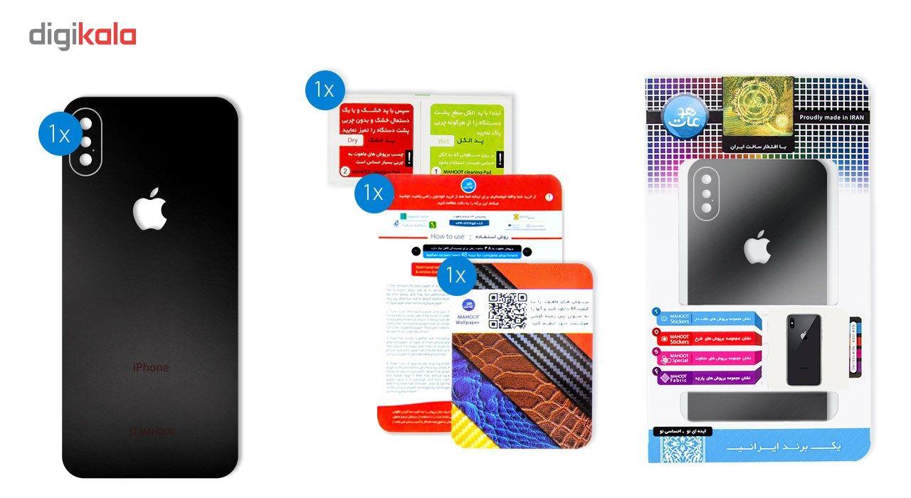 برچسب پوششی ماهوت مدل Black-color-shades Special مناسب برای گوشی  iPhone X main 1 7