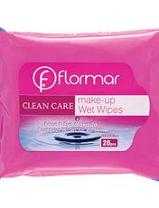 دستمال مرطوب پاک کننده آرایش فلورمار مدل انواع پوست بسته 20 عددی -  - 1