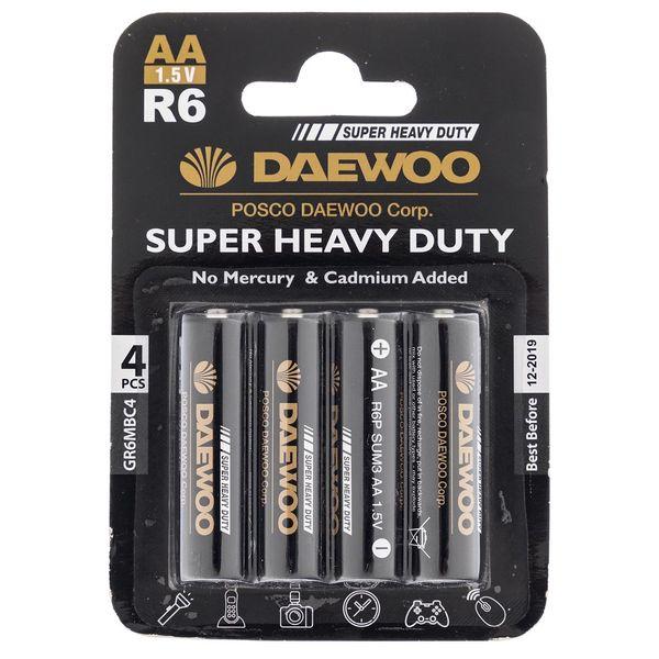 باتری قلمی دوو مدل Super Heavy Duty بسته 4 عددی