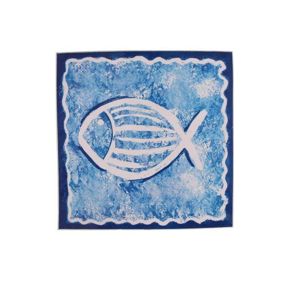 برچسب کاشی ونکو مدل Blue Fish بسته 10 عددی