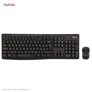 کیبورد و ماوس بیسیم لاجیتک مدل MK270 با حروف فارسی  Logitech MK270 Wireless Keyboard and Mouse Wi