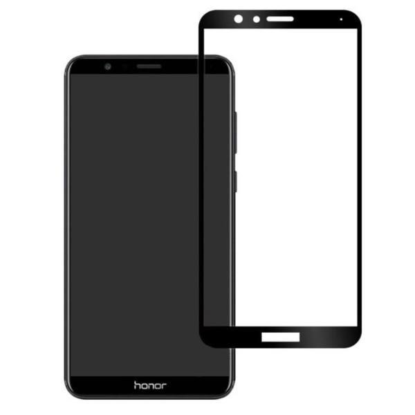 محافظ صفحه نمایش شیشه ای مدل فول چسب مناسب برای گوشی موبایل هوآوی Honor 7X
